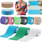 5M/Roll 2.5/5/10cm Sports Elastic Kinesiology Tape Muscle Pain Care Therapeutic
