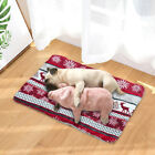 Warming Pet Bed Cushion Pad Dog Cat Cage Kennel Crate Soft Cozy Fleece Mat S-XL