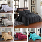 3D Solid Color Satin Duvet Cover Bedding Set Hotel Style Quilt Cover Pillowcase image