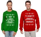 Внешний вид - Todd And Margo Couples Christmas Sweaters Funny Carpet Holiday Humor Sweatshirts