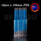 10pcs Magnetic PH2 Phillips Power Screwdriver Bits Set 50 90 150 Long 1/4""