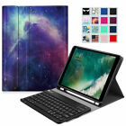 For iPad 6th Gen 9.7 inch 2018 Bluetooth keyboard Case Cover with Pencil Holder