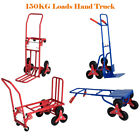 Heavy Duty 6 /8 Wheels Stair Climbing Flat Sack Bed Hand Truck Sack Trolley Cart