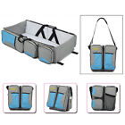 Baby Travel 3 in 1 Portable Bassinet Cot Mummy Travel Bag Diaper Change Bed QO