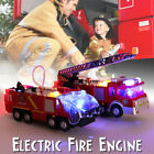 Fire Truck Engine Toy Water Jet Vehicle Model Lights Sound For Kid Birthday Gift