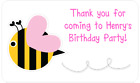 PERSONALISED STICKERS LABELS ADDRESS PARTY BAGS SWEET BABY SHOWER BIRTHDAY BEE