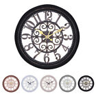 3D Large Wall Clock Vintage Retro Roman Numerals Silent Sweep Non-ticking