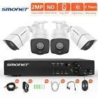 [Full HD] Security Camera System 1080P,SMONET 4 Channel Home Security Camera Sys