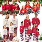 US Christmas Family Matching Pajamas Set Mens Womens Kids Sleepwear Nightwear #