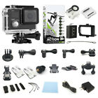 4K Action Camera Dual Screen Ultra HD Camcorder  Accessory Bundle