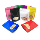 8.5*13cm Stand Up Aluminum Foil Mylar Zipper Bag Foods Storage Window Seal Pouch