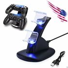 Kyпить For PS4 PlayStation4 Controller Dual USB Charger LED Dock Station Charging Stand на еВаy.соm