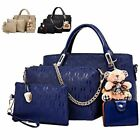 4Pcs Set Women Lady Leather Handbags Messenger Shoulder Bags Tote Satchel Purse