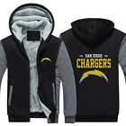 San Diego Chargers NFL Sweater Zipper Thicken Hoodie Unisex Jacket Winter Coat $25.19 USD on eBay