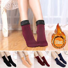 Women Winter Warm Thicken Socks Wool Home Snow Boots Solid Cotton Cozy Socks