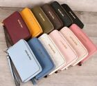 Внешний вид - NWT Michael Kors JET SET TRAVEL Large Flat Zip MF Phone Case Wristlet / Wallet