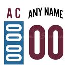 Colorado Avalanche Customized Number Kit for 2016 Stadium Series Jersey $24.99 USD on eBay