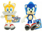 "Sonic The Hedgehog Sonic and Tails Plush Doll Anime Stuffed Toy 8"" US Shipped"