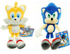 """Sonic The Hedgehog Sonic and Tails Plush Doll Anime Stuffed Toy 8"""" US Shipped"""