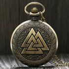 Vintage Steampunk Retro Bronze Pocket Watch Quartz Necklace Chain  Gift from US image