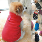 US Winter Pet Puppy Warm Soft Clothes Dog Sweater Christmas Hat Coat Jacket New