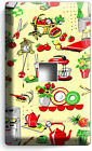 RETRO 50'S KITCHEN APPLIANCES PATTERN LIGHT SWITCH OUTLET WALL PLATES HOME DECOR