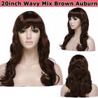 Long Straight Hair With Bangs Full Wig Heat Safe Fiber Black Brown Blonde Wigs N