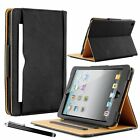 Real Leather Luxury Case Flip Book Cover Fit For iPad 234 Air Mini123 iPad 5 & 6