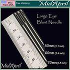 Large Eye Blunt Needles Steel Yarn Knitting Needles Sewing Needles -3 Sizes