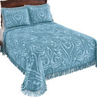 Parkside Plush Scroll Chenille Bedspread, by Collections Etc image