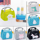 US Cute Animal Portable Insulated Canvas Picnic Lunch Bag Thermal Food Tote New