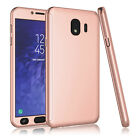 For Samsung Galaxy J4 J400 Tempered Glass Screen Protector Full 360° Slim Case