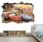 Disney Cars Crack Wall Poster Kids Bedroom Wallpaper Vinyl Decal Sticker Art