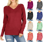 Wow Couture V-Neck Long Sleeve Sweater with Sleeve Button Detail S ~ L