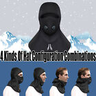 Full Face Mask Motorcycling Thermal Winter Sports Zipper Neck Cap Cover Hat