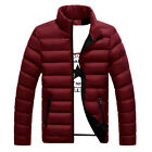 USA Men Winter Warm Down Coat Ski Jacket Stand Collar Casual Overcoat Oversize