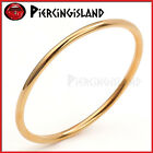18K GOLD FILLED LADY SOLID CLASSIC PLAIN ROUND GOLF BANGLE BRACELET JEWELRY GIFT