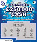 Fake Joke Winning Lottery Scratch Cards Scratchcards ALL appear to win £50,000