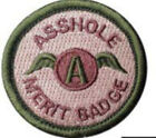 Morton Home-Asshole Merit Badge Tactical Hook and Loop Patch Funny GiftPatches - 177895