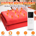 220V Queen Size Electric Heated Flannel Blanket 4 Gear Warm Winter Cover Heater image
