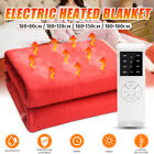 220V Queen Size Electric Heated Flannel Blanket 4 Gear Warm Winter Cover Heater