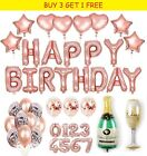 Rose Gold Foil And Latex Balloons Sets Helium Wedding Birthday Hen Party Decor