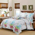 Poly Cotton printed Floral stripped bed cover set single double king one price