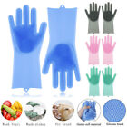 Внешний вид - 1 Pair Magic Silicone Dish Washing Gloves Scrubber Cleaning Brush Heat Resistant