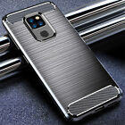 For Huawei Mate 20X 10 9 Pro Lite Slim Fiber Carbon Silicone Rugged Case Cover