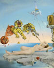 Salvador Dali Dream Flight of a Bee Around a Pomegranate Art Silk Poster