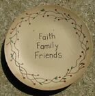 Primitive  Wooden Plates 14 Different Plates ALL  6 inch diameter