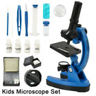 Children's Kids Junior Microscope Science Lab Set With LED 300x-1200x Kit