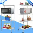 Внешний вид - 4 Tiers Kitchen Baker's Rack Microwave Stand Holder Workstation Shelf Wheels EK