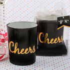 36-70 Black and Gold Cheers Design Candle - Wedding Shower Party Favors